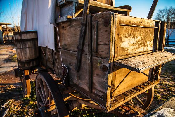 Pioneer Wagons, Transportion at Sunrise, Bluff, Utah