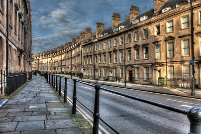 Streets of Bath, England