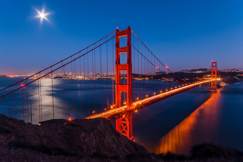 Golden Gate Bridge Moonrise