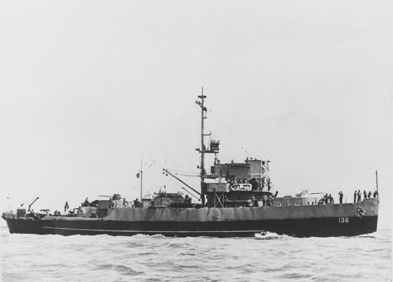 USS Admirable (AM-136)<br /> <br /> Date: 1943<br /> Location: Unknown<br /> Source: William Clarke - National Archives 80G-43184