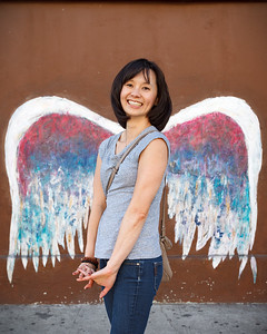 Global Angel Wings Project Mural by Colette Miller  8401 West 3rd Street Los Angeles, CA 90048