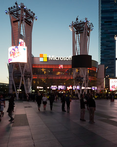 This is our second time visiting the Microsoft Theater (not sure why my phone refuses to autofocus)