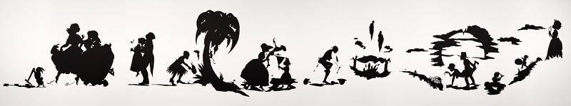 African't by Kara Walker  This smartphone panorama needs Valerie to give this installation a proper sense of scale....it is on a curved wall