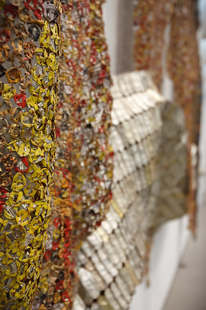 Strips of Earth's Skin by El Anatsui