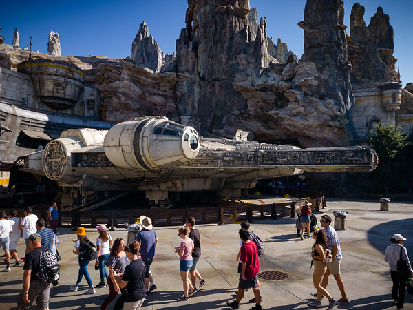 And this is likely the highlight of everyone's visit to Black Spire Outpost on Batuu...seeing the Millennium Falcon for realz!