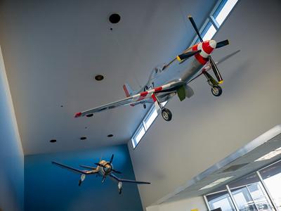 Plane models...if I'm not mistaken, an F4U Corsair and a P51 Mustang