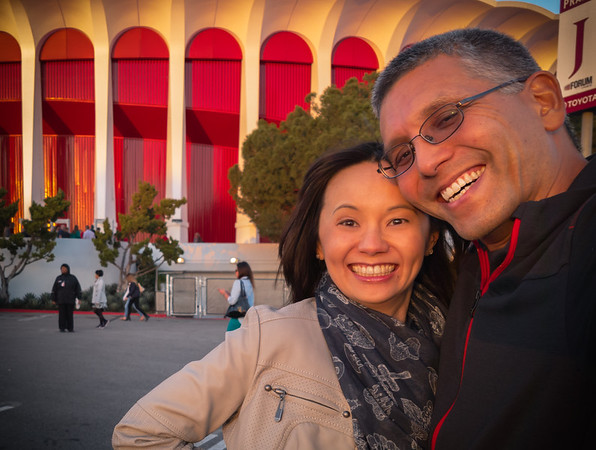 Sunset selfie at The Forum