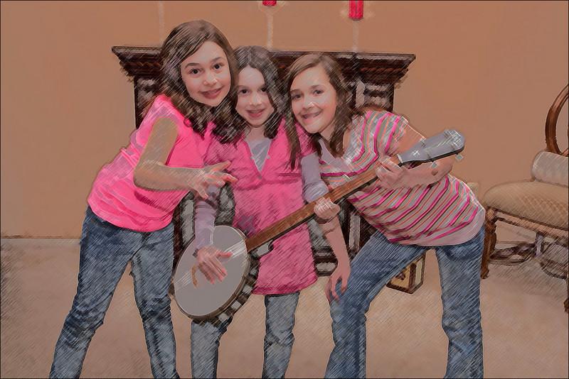0062 Cousins Colored Pencil