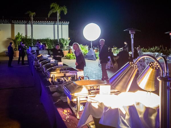 The buffet is setup outside
