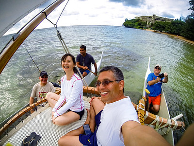 My sailboat selfie with Ramon, Valerie, Captain Del, and CJ  I was not sure if I should bring my DSLR on the ocean, so I will be relying upon my water resistant smartphone and encased GoPro for pics