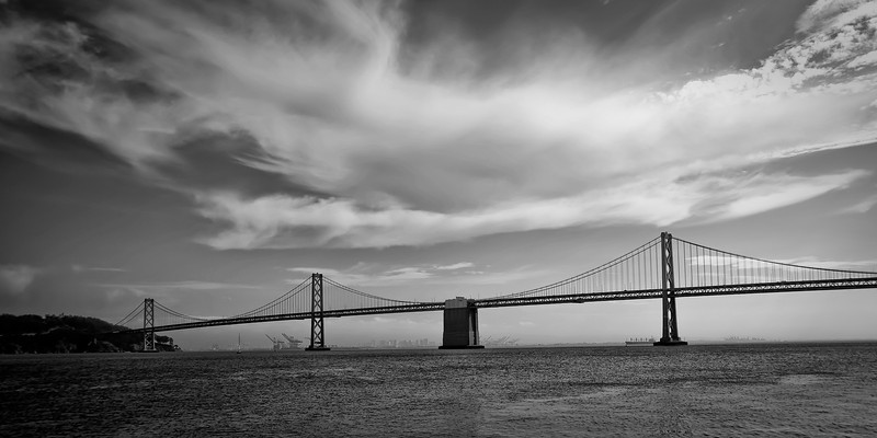 The Bay Bridge<br /> <br /> Tech:<br /> Camera | Nikon D80<br /> Lens | Nikkor 18-200mm<br /> Exposure | 1/1500sec;  f/3.8; ISO 100<br /> Filters: None