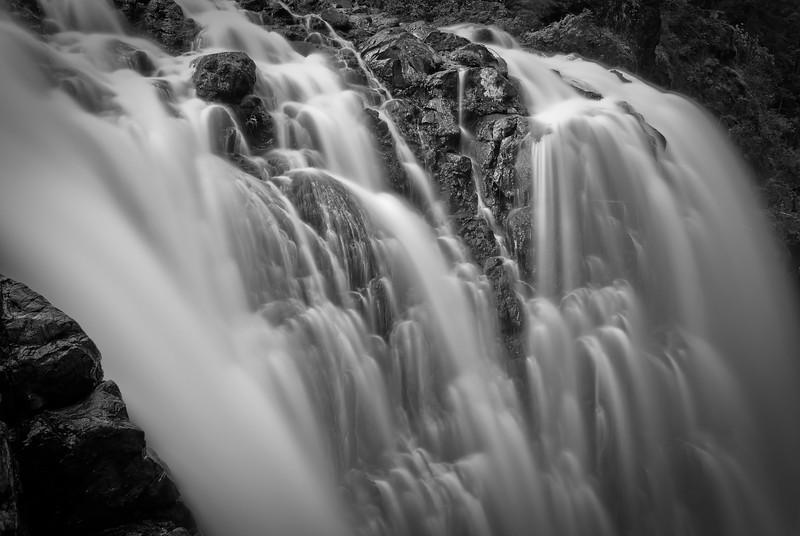 Englishman River Falls<br /> <br /> Tech:<br /> Camera | Nikon D80<br /> Lens | Nikkor 18-200mm<br /> Exposure | 55sec;  f/11; ISO 100<br /> Filters: B+W 110 ND