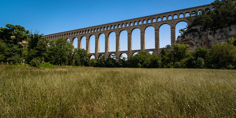 Roquefavour Aqueduct p.1<br /> <br /> Tech:<br /> Camera | Nikon D7100<br /> Lens | Nikkor 12-24mm; at 12mm<br /> Exposure | 1/60 sec; f/11; ISO 100<br /> Filters: Circular Polarizer