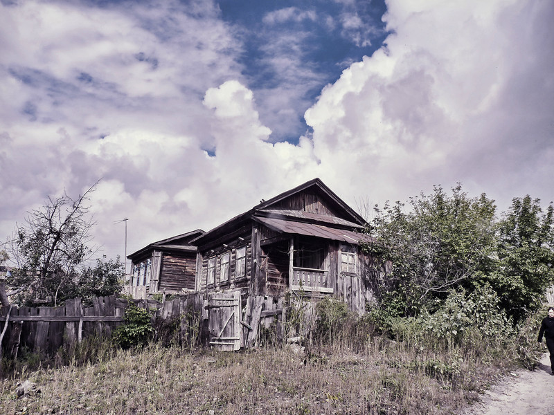 Russian village home in Penza Oblast.