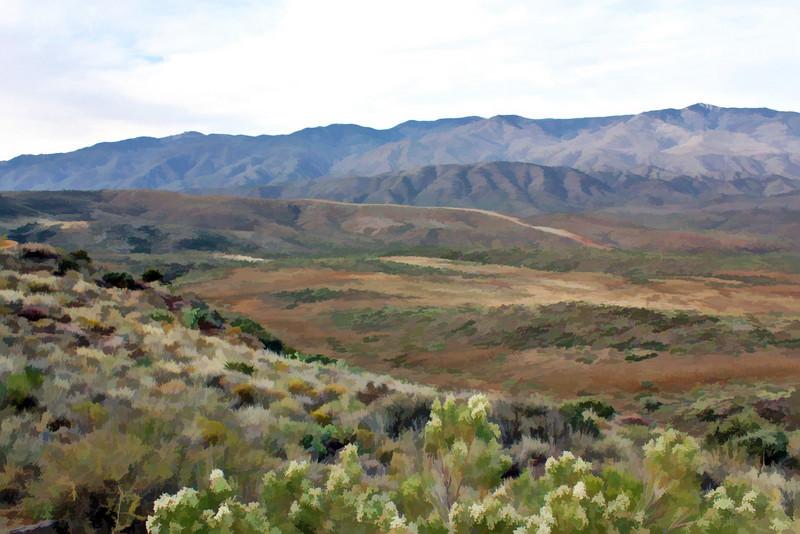 Painted Arizona landscape. № 2 (Painted Version]