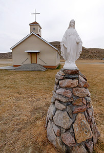 Small country Catholic church, Wyoming.