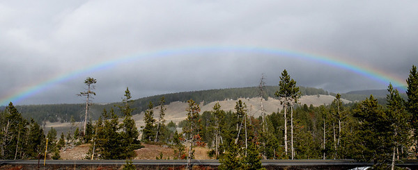 Rainbow, Yellowstone Park.