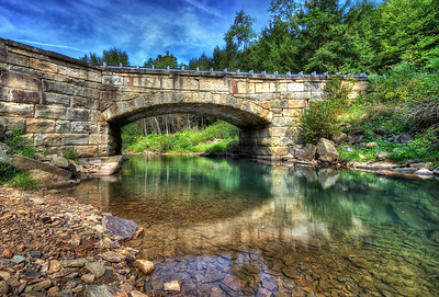 Stone Arch Bridge in Eagle Rock, PA.