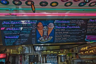 menu at the diner