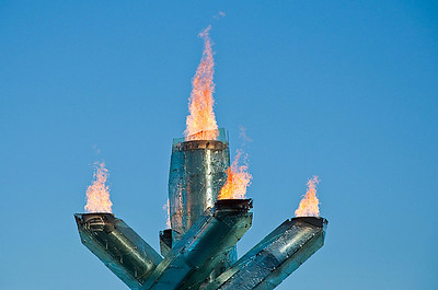 The 2010 Olympic torch.   Vancouver