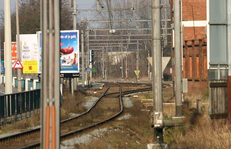 Temse - Rails ter hoogte van het station