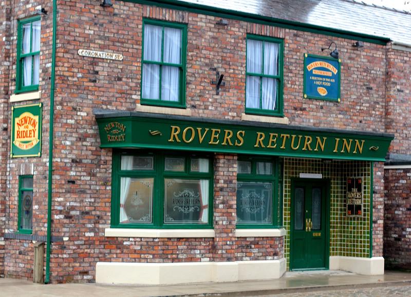 "The ""new"" Coronation Street Rovers Return at Trafford Wharf."