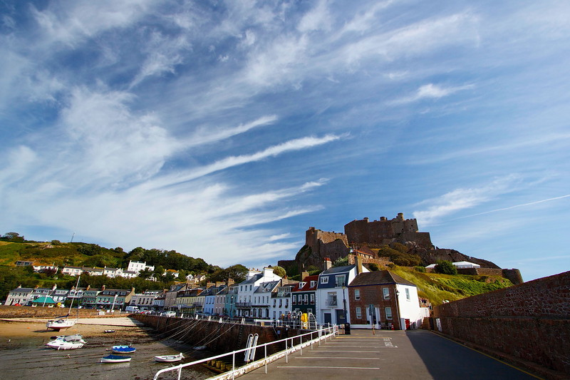Mont Orgueil at Gorey in the Channel Island of Jersey.