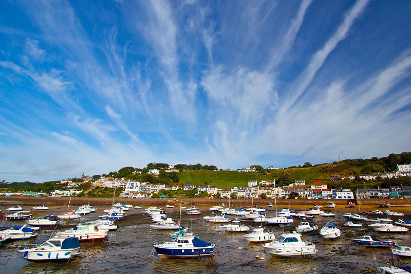 Gorey Harbour in the Channel Island of Jersey.