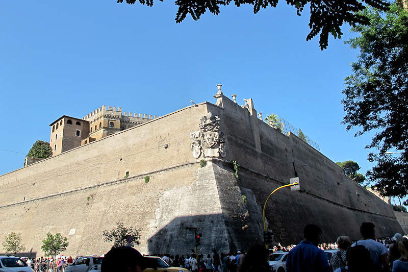 Section of the Vatican wall