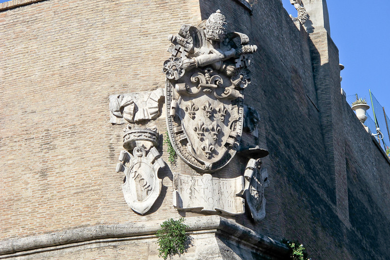 Detail on the Vatican wall