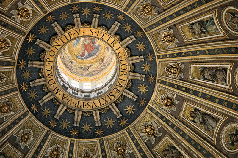 Michelangelo's Dome (completed by Giacomo della Porta in 1590), St. Peter's