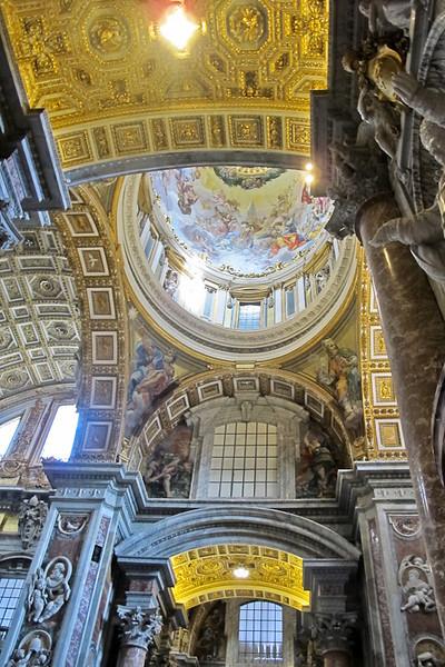 Ceiling above the left transept