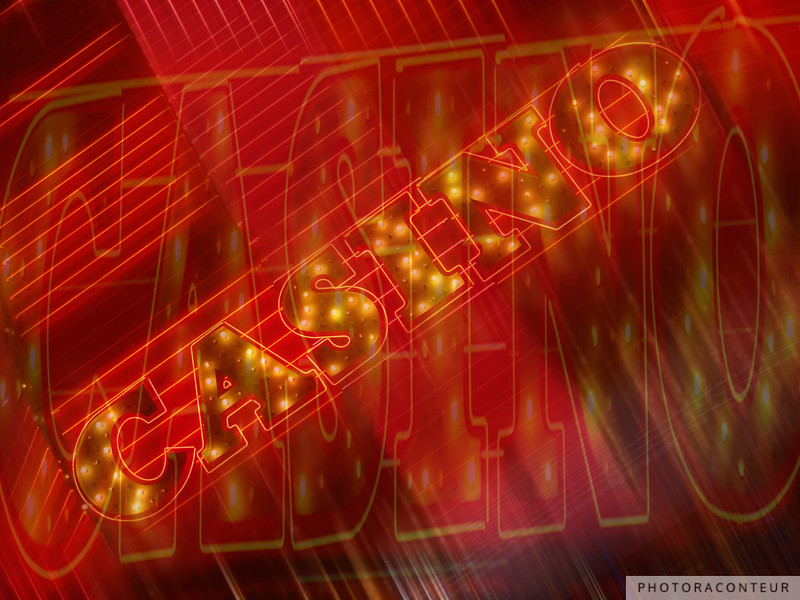 """""""Vegas Lights No. 5"""" ~ Digital artwork depicting the excitement created by neon lights along Fremont Street in Las Vegas, NV."""