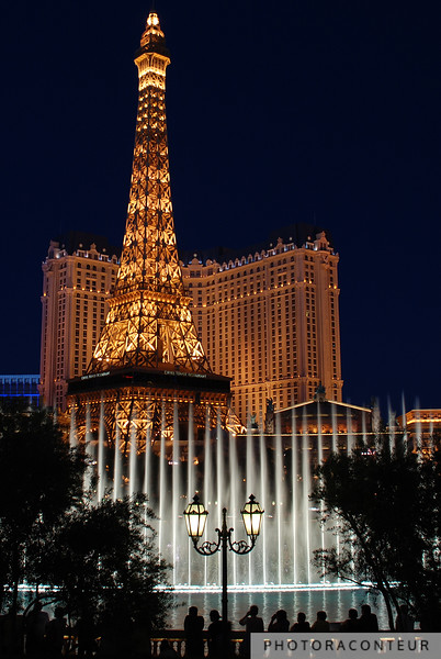 """Vegas Fountain No. 2"" ~ A view of the famous choreographed fountains in Las Vegas against a backdrop of the Eiffel Tower.    HUGE PRINTS are also available for this photo! Get prints that are taller than you are, or wider than you can stretch your arms! Click for more info:"