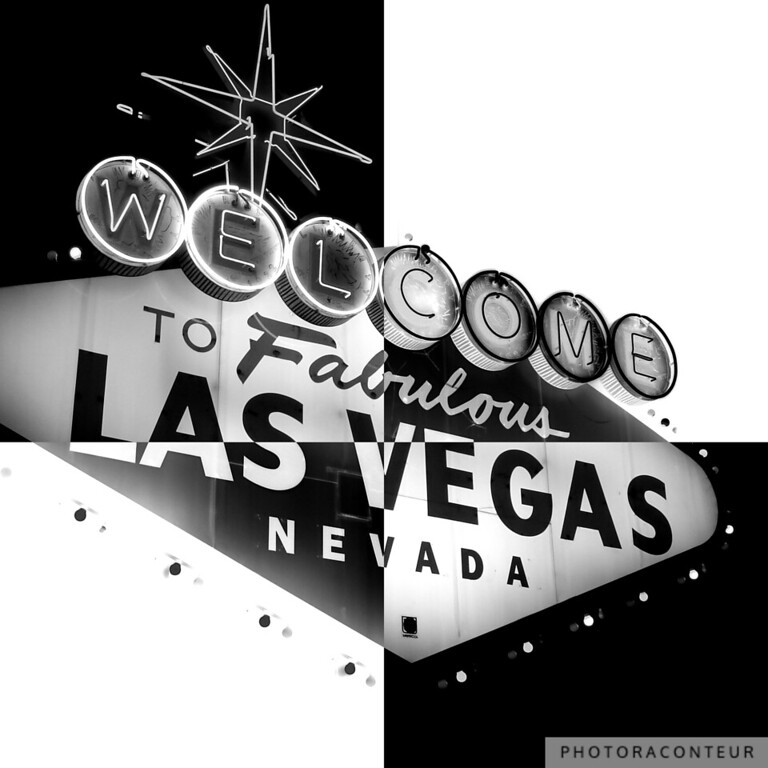 """""""Vegas Sign No. 27"""" ~ This variation is composed of an alternating checkered pattern that is inspired by Art Deco.  The alternating black and white is classic yet contemporary."""