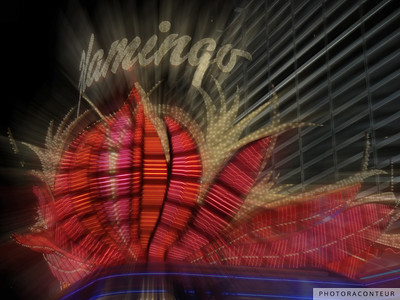 """Vegas Lights No. 1"" ~ Digital artwork depicting the excitement created by neon lights along The Strip in Las Vegas, NV."