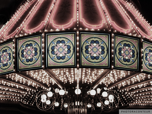 """Vegaslight No. 2"" ~ Faded version of classic neon and incandescent lighting on the façade of a casino in Las Vegas."