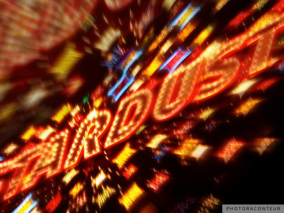 """Vegas Lights No. 4"" ~ Neon sign for the Stardust Casino.  I took this photo not long before the casino was imploded on March 13, 2007 in typical Vegas-style to make room for a new casino/hotel development."