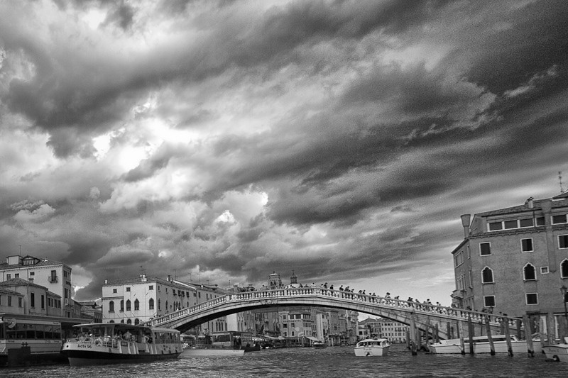 The Grand Canal in B&W