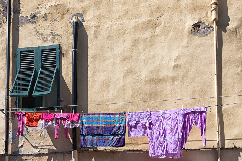 Hanging wash on a Venice building