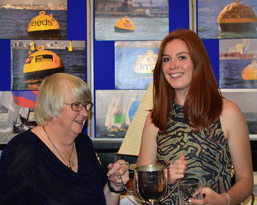 Zoe collects the goodies for Z71 - Sphere Trophy, Cowes runner up