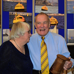 Jim Page still celebrating with the Endeavour Trophy