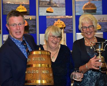 Duncan and Carole with the Thursday Tankard and Dunlin Tub