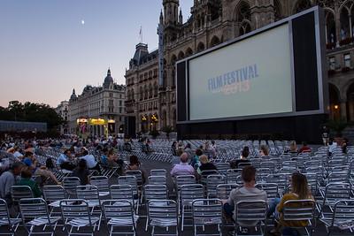 Film festival, Rathaus, Vienna