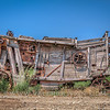 An abandoned cart on the road to Trecate