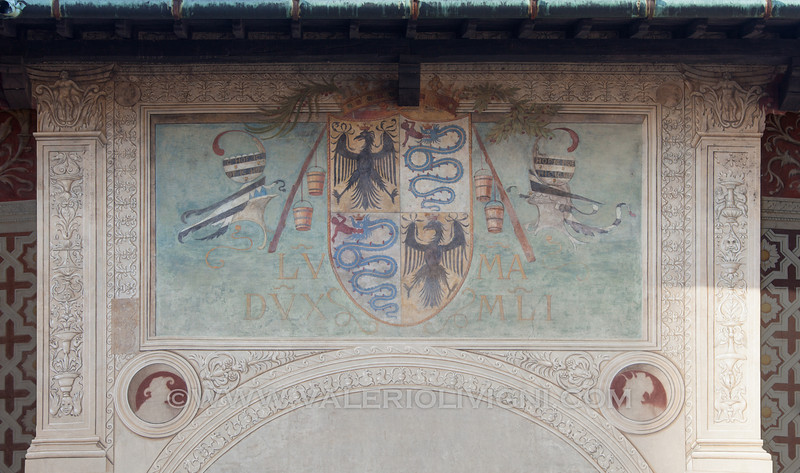 A fresco painted on the short side of Ducale Square