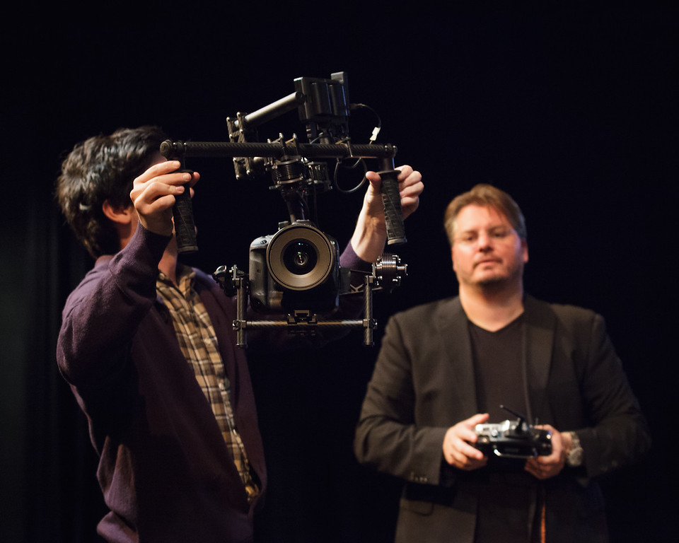 "Demonstration of the Movi  by Freefly - Vincent Laforet in Brisbane; Visy Theatre, Brisbane Powerhouse, New Farm, Brisbane, Queensland, Australia; 02 September 2013. Photos by Des Thureson - <a href=""http://disci.smugmug.com"">http://disci.smugmug.com</a>."