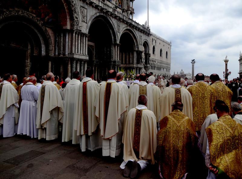 Saturday Night Mass in St Mark's Square in Venice Italy 2
