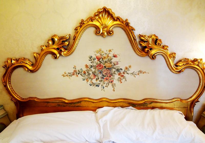 Headboard on Bed in Venice Italy