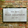 Grave Stone for Peggy Guggenheim in Venice Italy